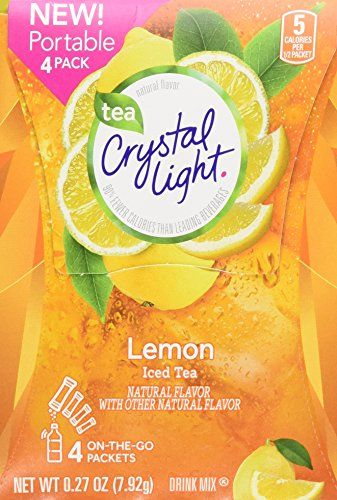 Crystal Light Lemon Iced Tea Drink Mix On The Go Portable 4 Count Powder Packs Pack Of 15 60 Total Want To Know Iced Tea Drinks Mixed Drinks Drinking Tea