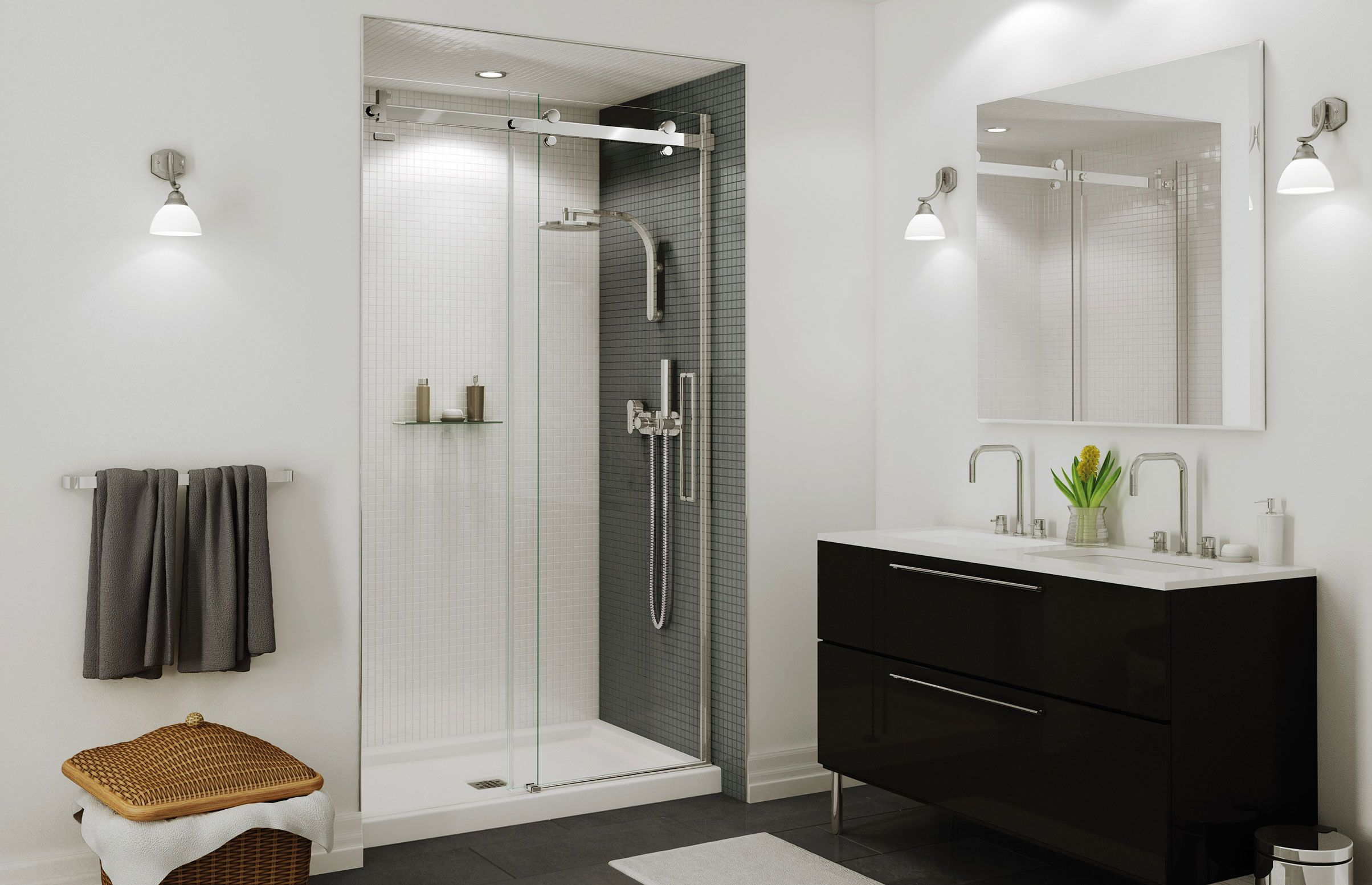 Halo sliding door -to maximize space in upstairs bathroom   For the ...