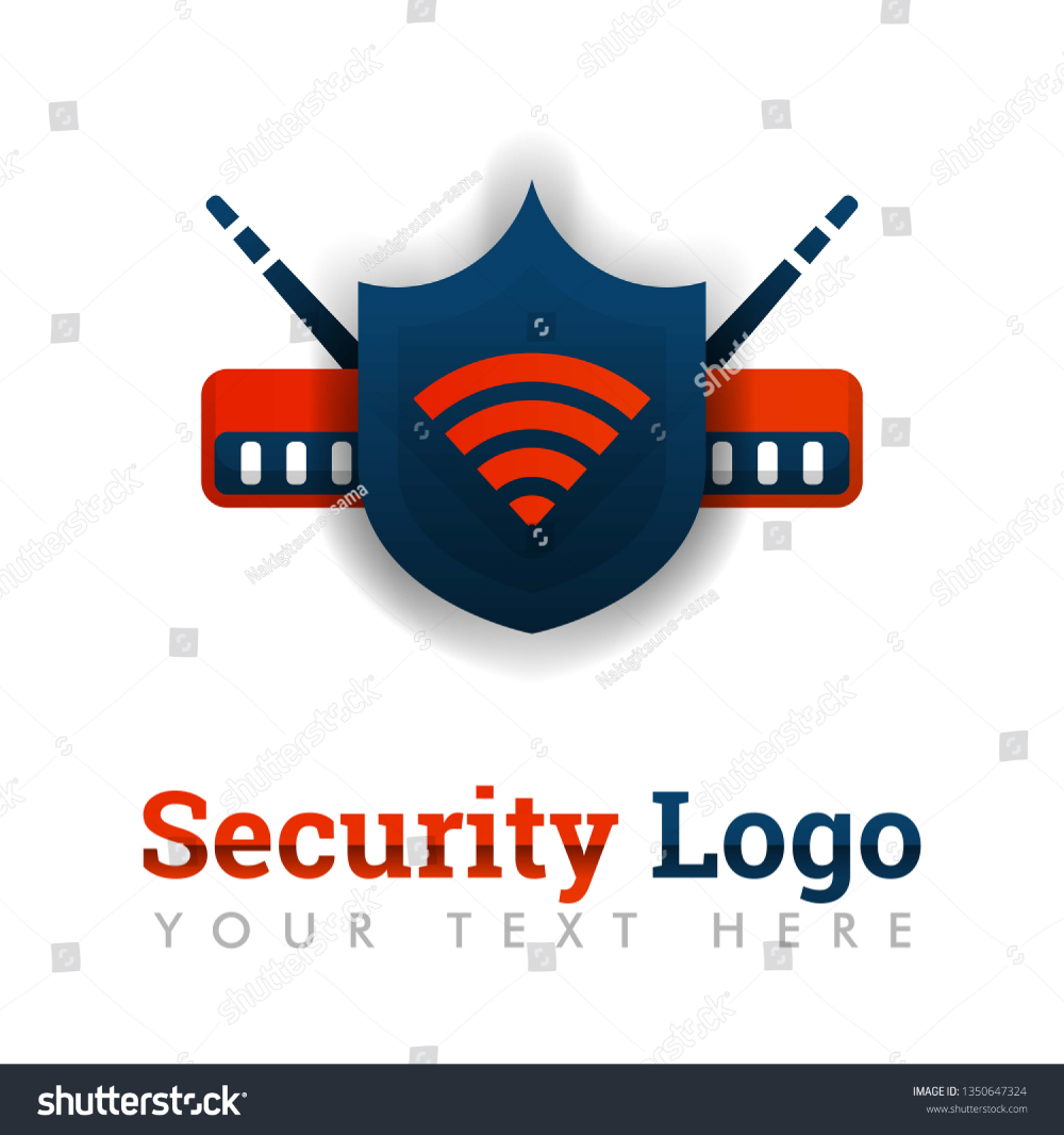 Security logo template for network protection, secure