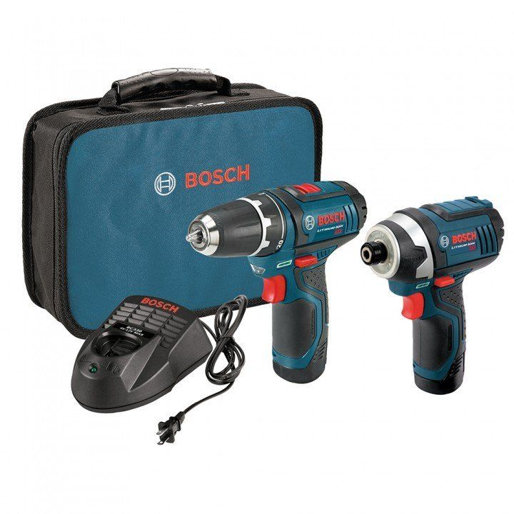 Bosch 12v Max 2 Tool Lithium Ion Cordless Combo Kit Combo Kit Bosch Cordless Tools