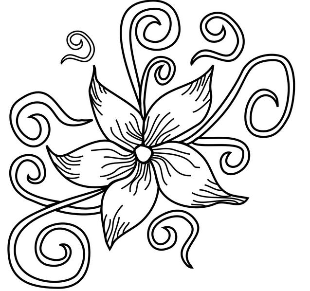 Узоры цветы картинки рисовать
