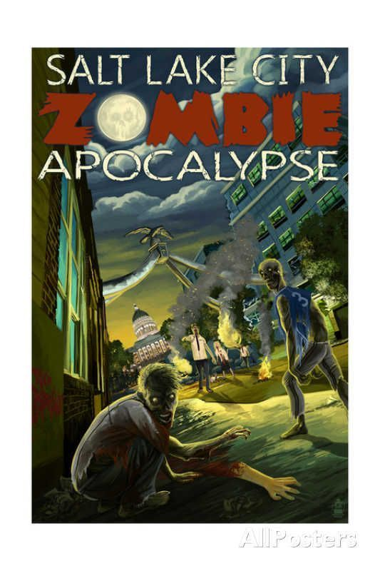 Salt Lake City, Utah - Mormon Zombie Apocalypse Art by Lantern Press #zombieapocalypseparty Salt Lake City, Utah - Mormon Zombie Apocalypse Art at AllPosters.com #zombieapocalypseparty Salt Lake City, Utah - Mormon Zombie Apocalypse Art by Lantern Press #zombieapocalypseparty Salt Lake City, Utah - Mormon Zombie Apocalypse Art at AllPosters.com #zombieapocalypseparty