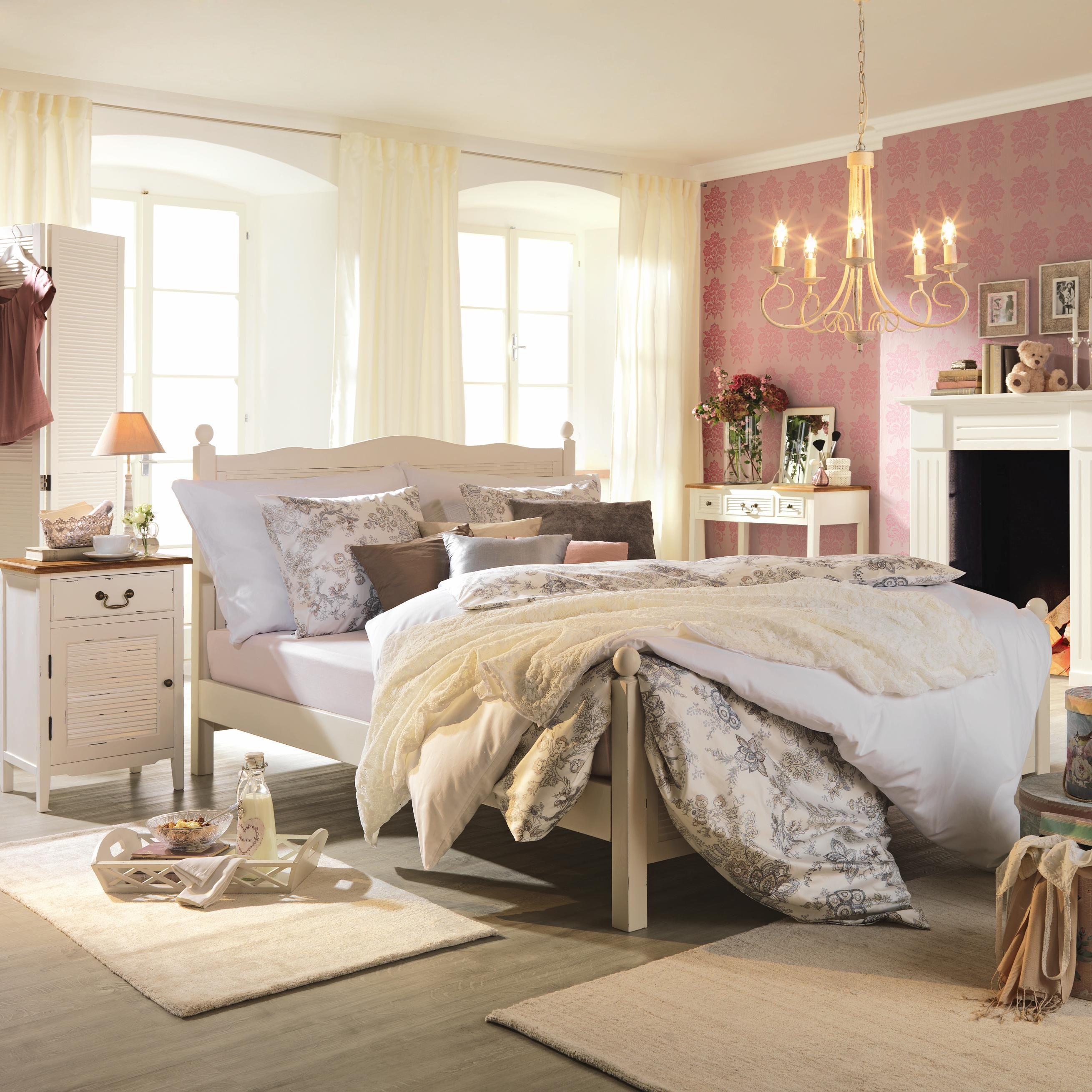 gemütliches schlafzimmer von ambia home im vintage look, Schlafzimmer entwurf