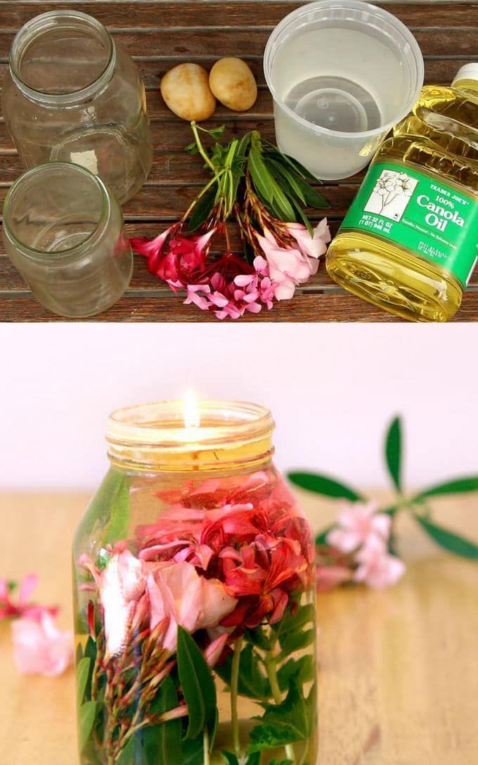 Magical Mason Jar Oil Lamp ( 2-Minute DIY Oil Candles! ) - A Piece Of Rainbow
