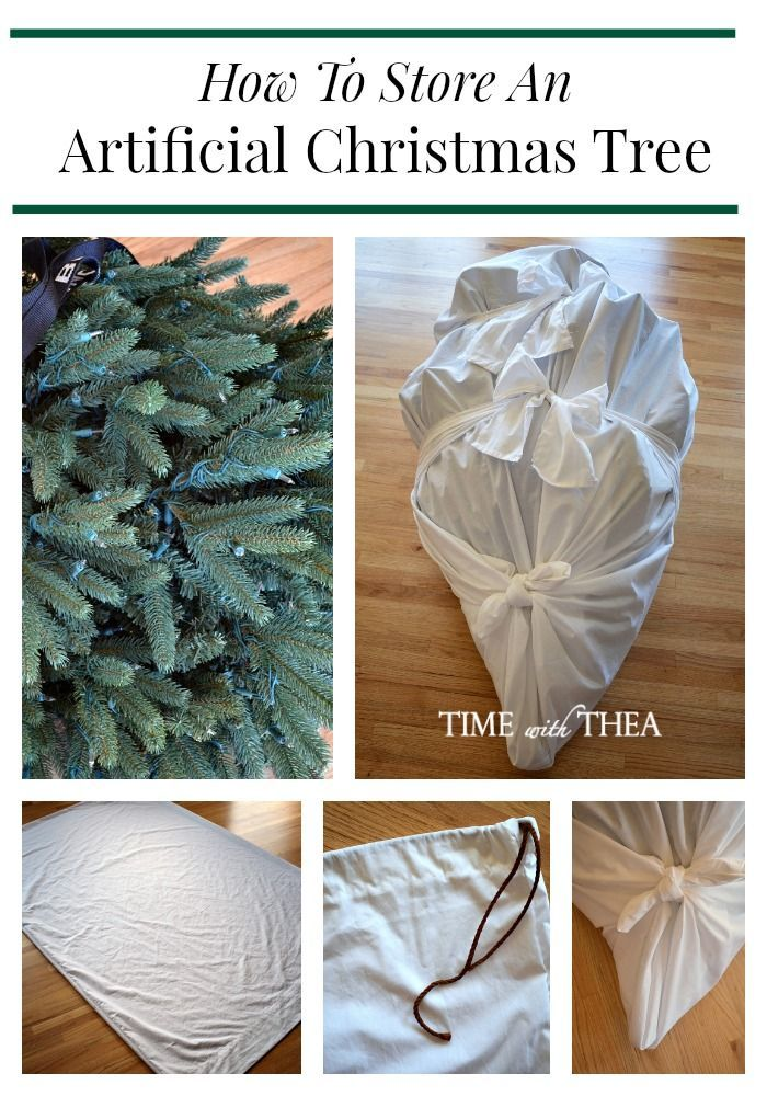 How To Store An Artificial Christmas Tree ~ This is a very doable and  practical DIY idea for storing a large artificial Christmas tree by sewing  different ... - How To Store An Artificial Christmas Tree Christmas Ideas