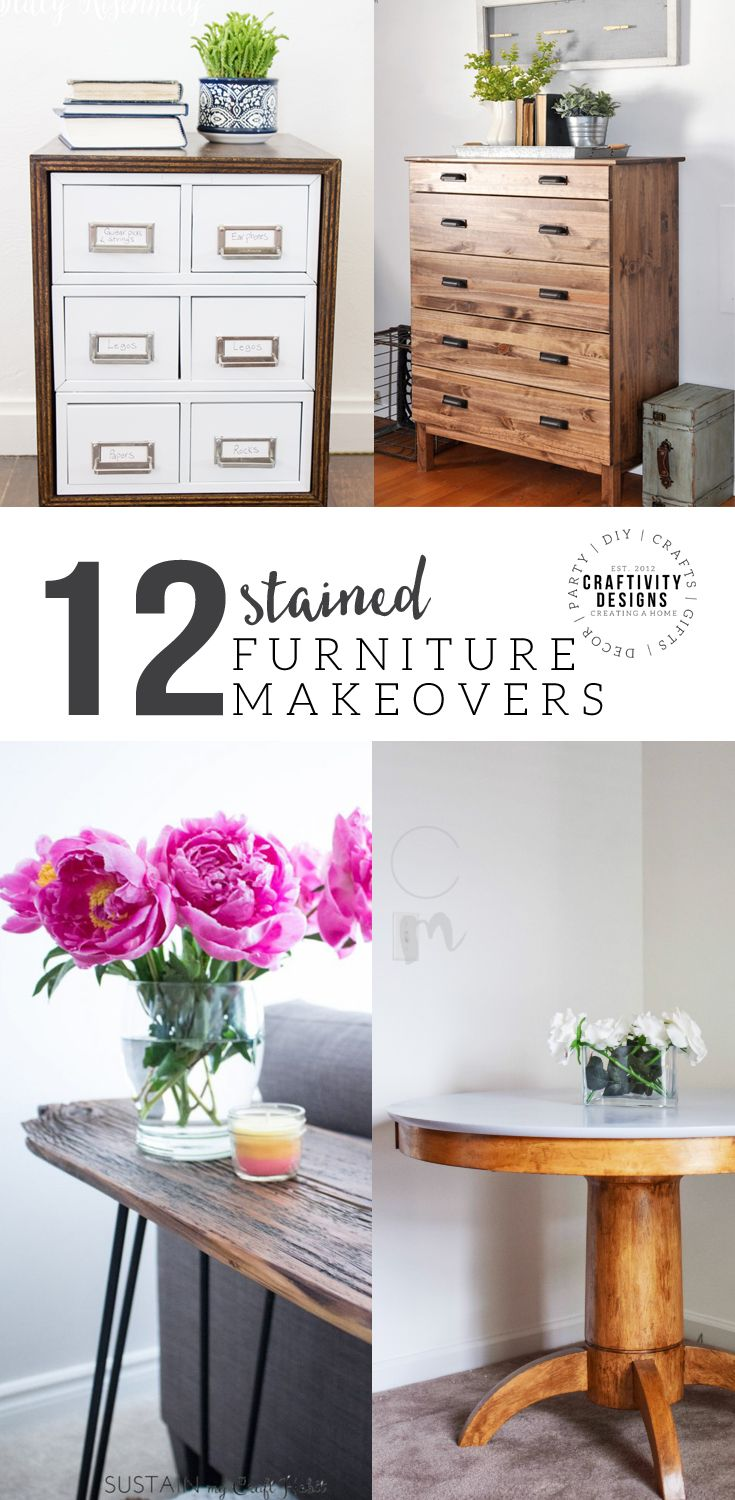 12 Stained Furniture Makeovers that will Inspire You!