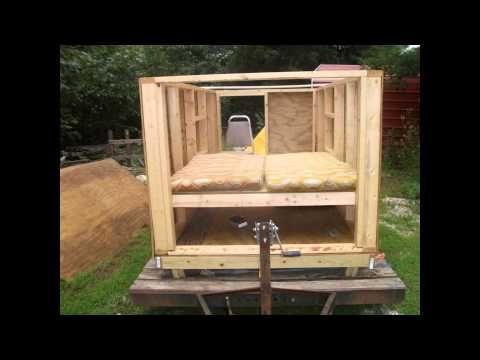 Homemade Camper Trailer Build Homemade Camper Camper Trailers Trailer Build