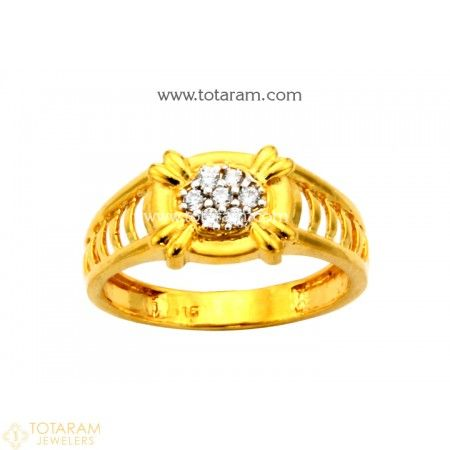 22K Gold Ring For Men with Cz 235 GR4227 Buy this Latest