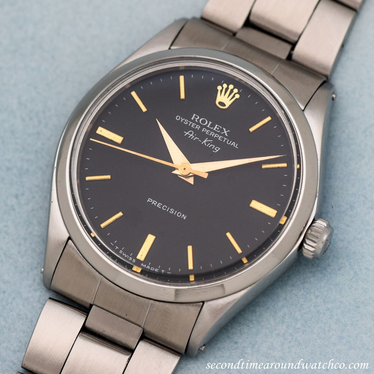"""A 1971 Rolex AirKing Reference 5500 with a Stainless"