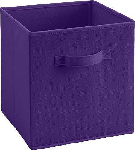 Altra Furniture Cube Square Fabric Bin Storage 12 Inch Purple Altra Furniture Http Www Amazon Com Dp Fabric Storage Bins Fabric Storage Purple Storage Bins