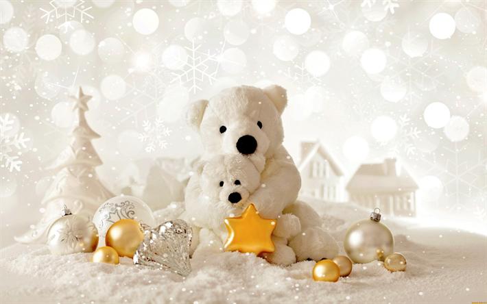 valkoinen joulu 2018 Lataa kuva Joulu, polar nallet, 2018, Uusi Vuosi, valkoinen Joulu  valkoinen joulu 2018