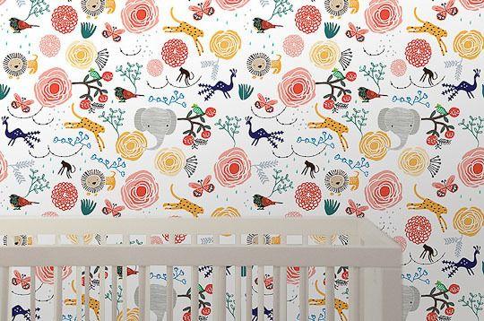 The Best Kid Friendly Removable Wallpaper Kids Wallpaper Jungle Wallpaper Best Removable Wallpaper