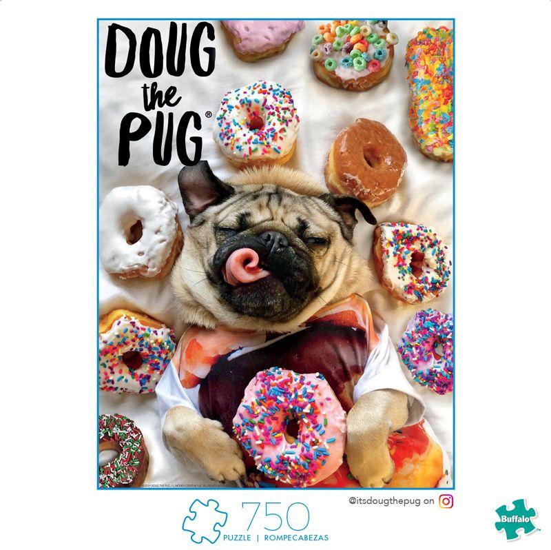 A Dog S Life Doug The Pug Donut Doug 750 Piece Jigsaw Puzzle
