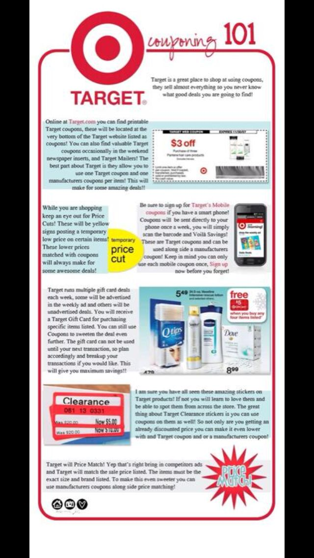 Target Couponing 101, Money saving tips, Shopping coupons