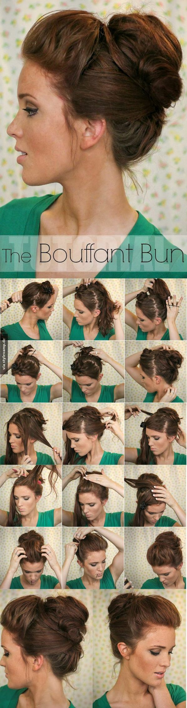 Bouffant bun uc frisur pinterest bouffant bun hair style and