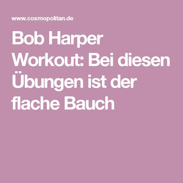 Bob Harper Diät gegen Übung