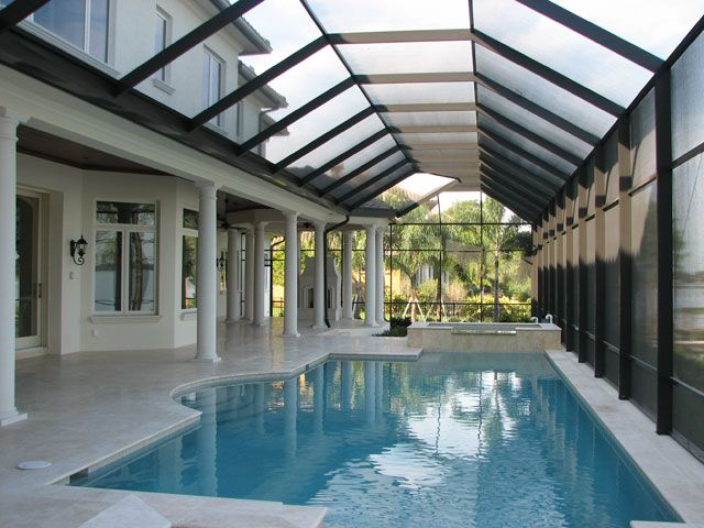 Orlando Central Florida Swimming Pool Enclosures And Pool Screens Indoor Swimming Pools Pool Houses Indoor Swimming Pool Design