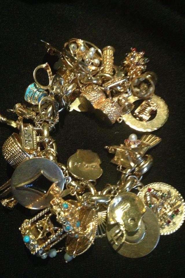 Charm Bracelet Vintage Charm Bracelet Gold Charm Bracelet Charm Bracelet