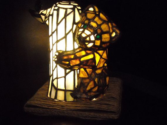 Hey, I found this really awesome Etsy listing at https://www.etsy.com/listing/189780136/stainedglass-baby-bear-lamp