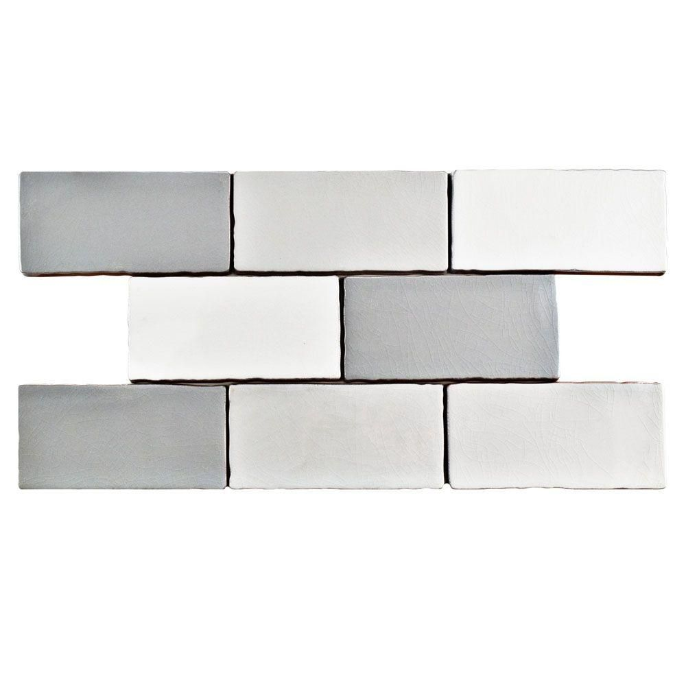 Merola tile antic craquelle gris mix 3 in x 6 in ceramic wall tile merola tile antic craquelle gris mix 3 in x 6 in ceramic wall tile 4 sq ft pack wcvancg the home depot dailygadgetfo Choice Image