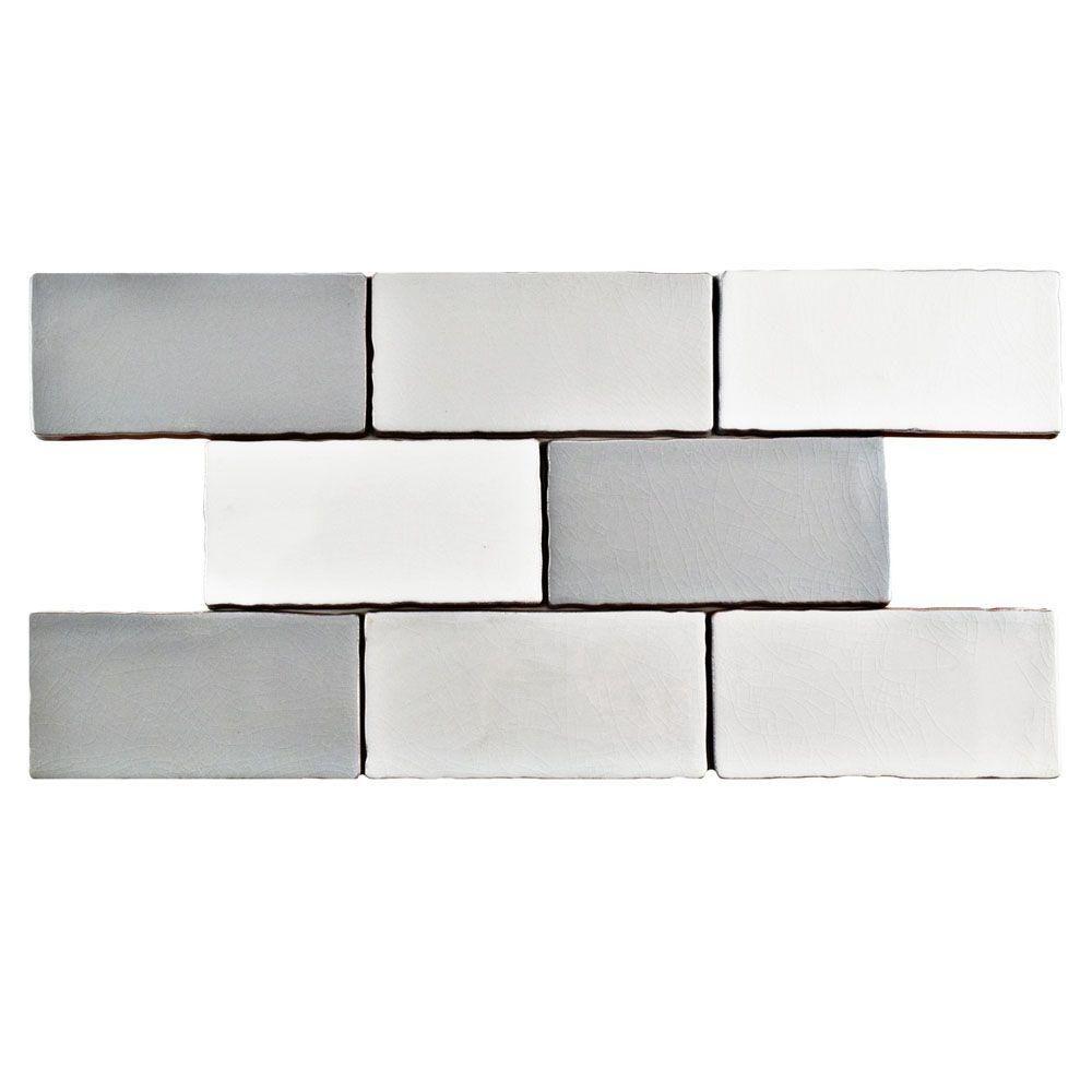 Merola tile antic craquelle gris mix 3 in x 6 in ceramic wall tile merola tile antic craquelle gris mix 3 in x 6 in ceramic wall tile dailygadgetfo Gallery