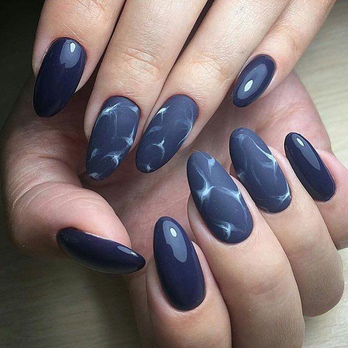 Nail Art #3849 - Best Nail Art Designs Gallery | Dark blue nails ...