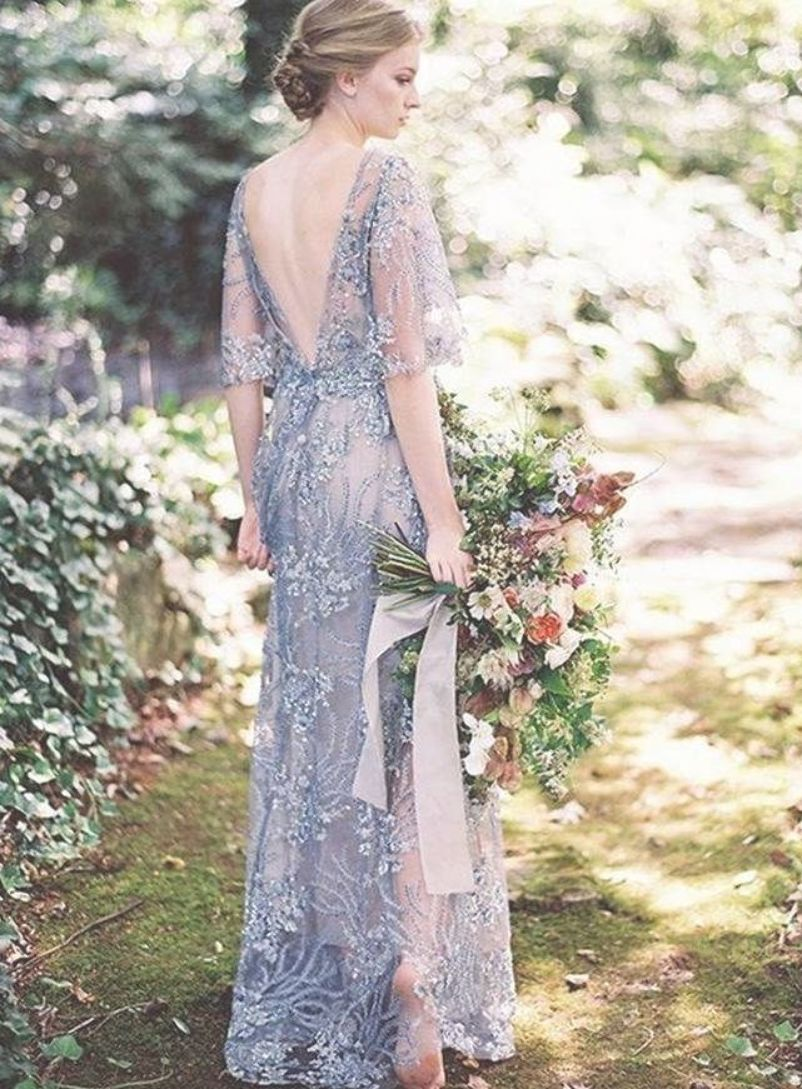 Here Is The Most Gorgeous Wedding Dress Inspiration From Pinterest And Instagram For Col Embellished Wedding Dress Colored Wedding Dress Wedding Dresses Beaded
