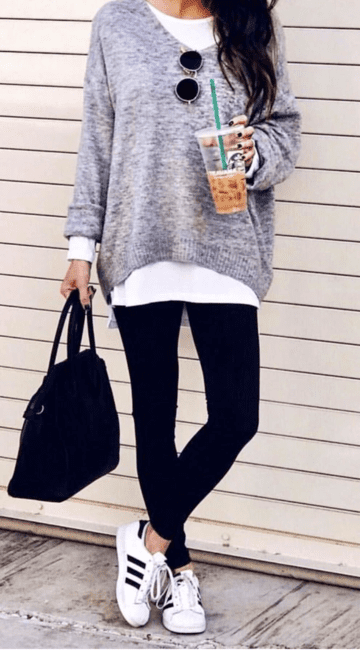45 Perfect Spring Outfits To Get Asap Spring Outfits Just Another Outfit Casual Winter Outfits Outfits With Leggings Fashion Clothes Women