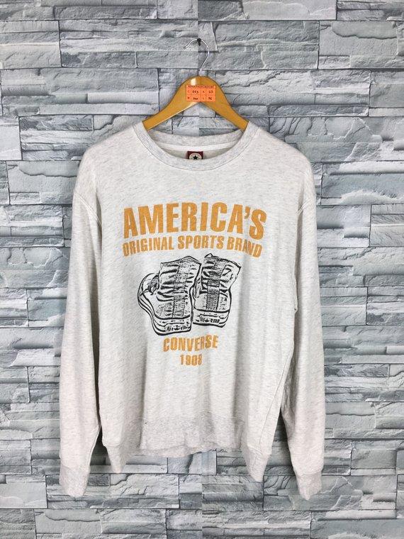 9b110da71d49d CONVERSE All Star Sweatshirts Unisex Large Skaters Streetwear ...