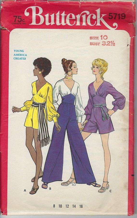 Vintage Butterick Sewing Pattern 5719 Hot Pants Jumper | vintage ...