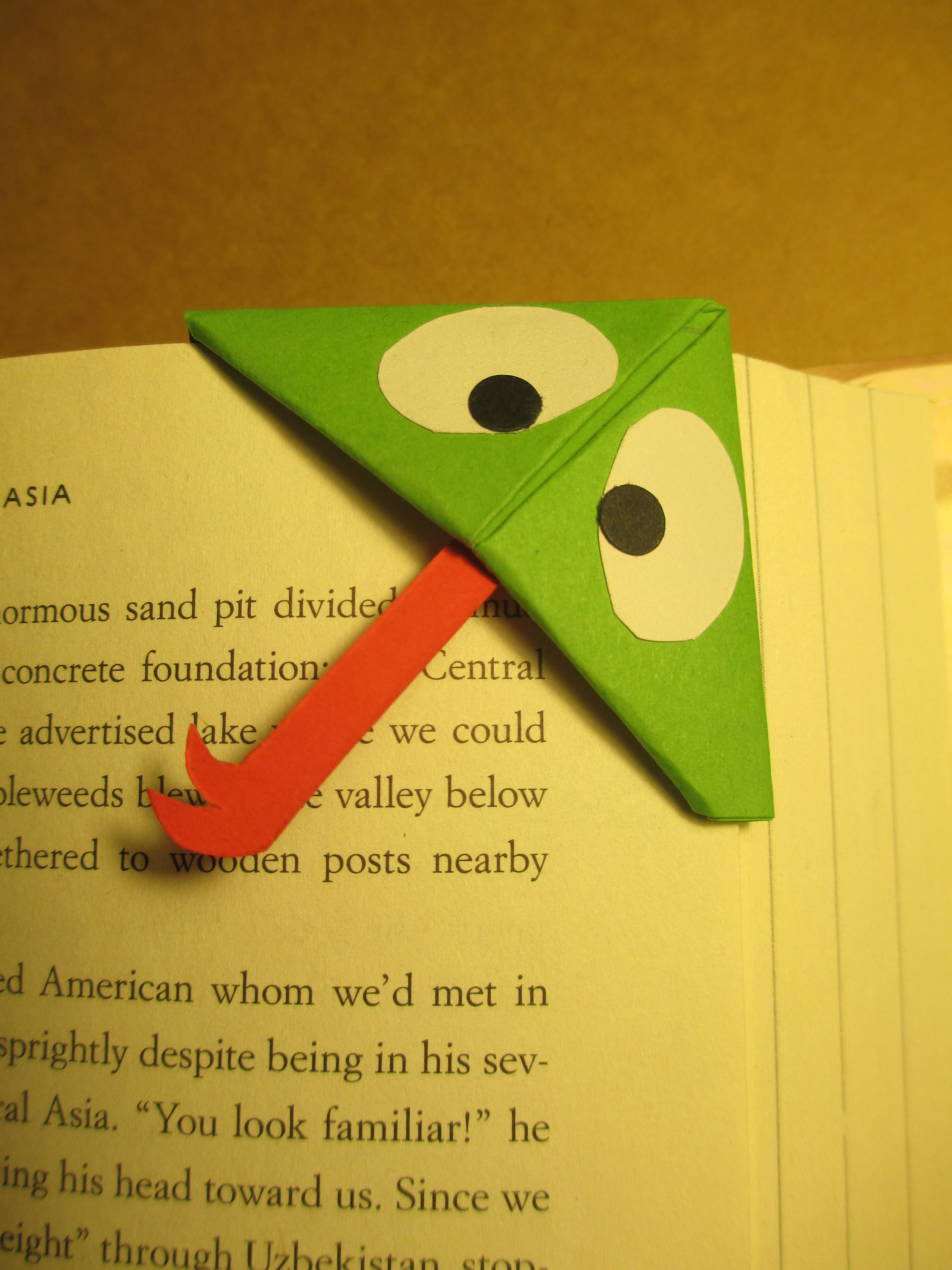 Frog bookmark handmade origami bookmarks pinterest bookmarks frog bookmark jeuxipadfo Image collections