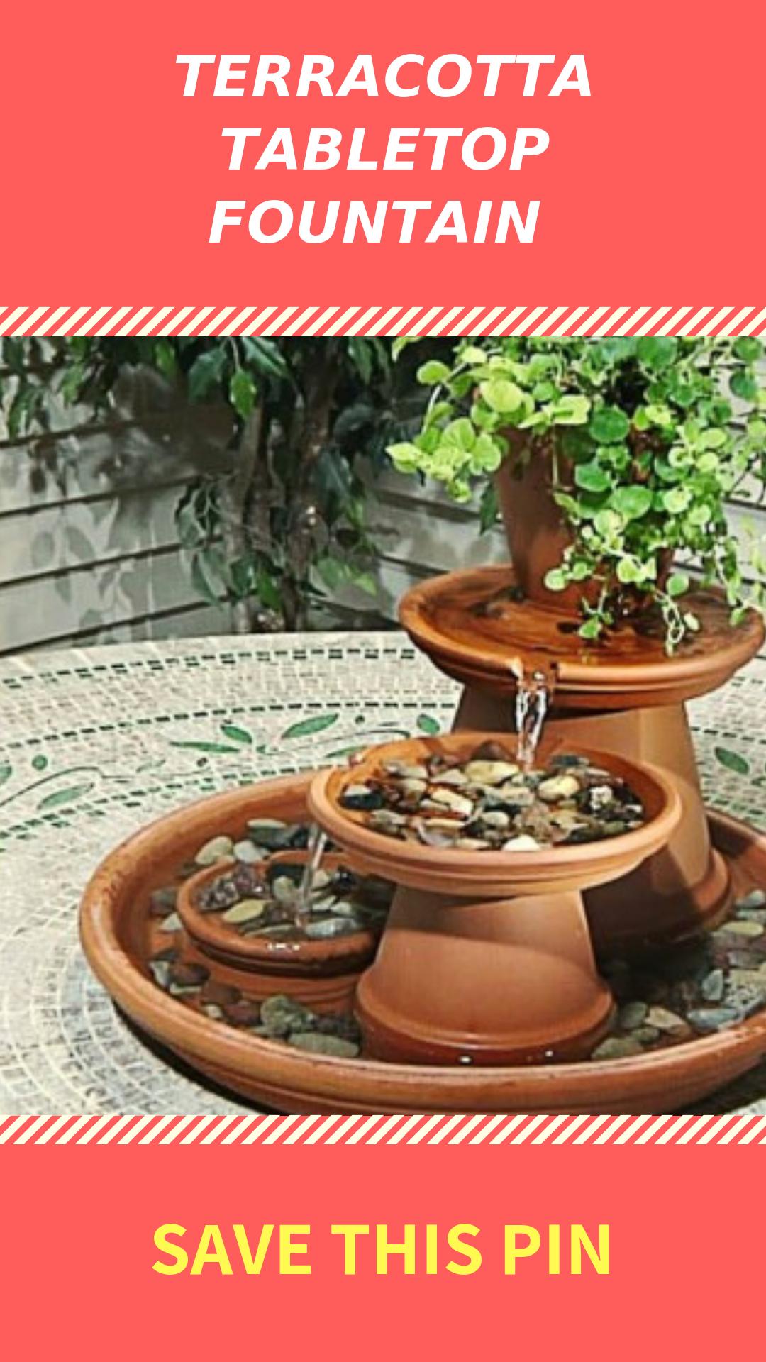 Diy Terracotta Tabletop Fountain Project For Outdoors Garden
