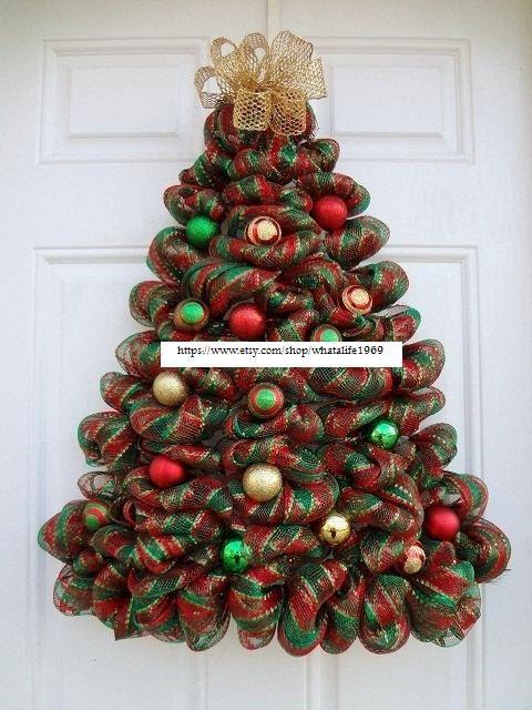 Deco malla guirnalda árbol de Navidad