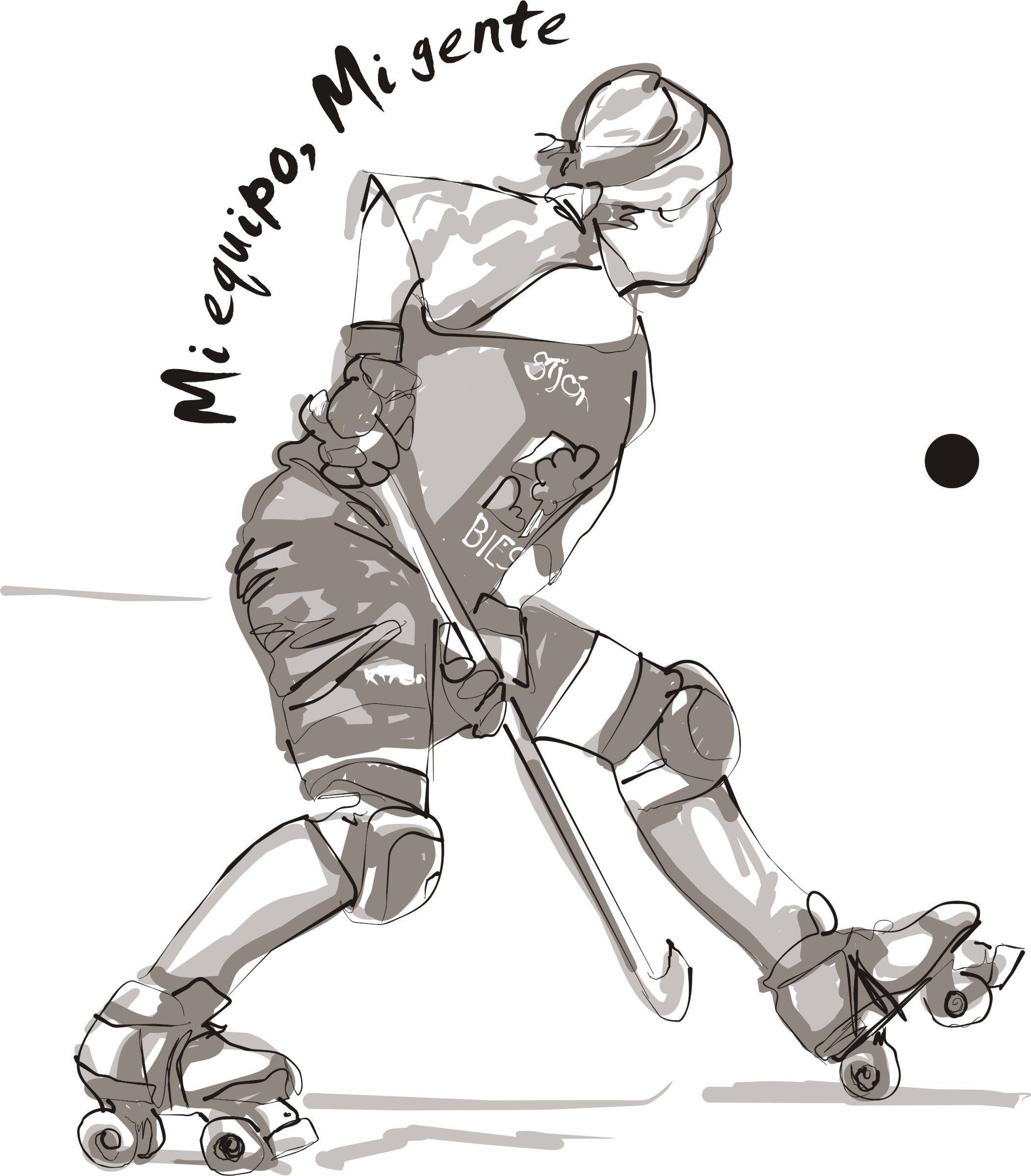 Dibujos De Hockey Sobre Patines Buscar Con Google Hockey