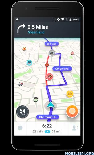 Waze – GPS, Maps & Traffic v4 22 1 901Requirements: 4 0+