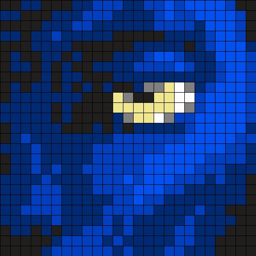 Avatar Jake Sully Perler Bead Pattern / Bead Sprite