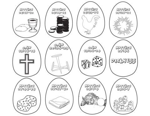 Resurrection Eggs Coloring Pages Resurrection Eggs Easter Sunday School Easter Lessons