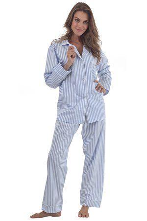 4167168a3a Bedhead Blue 3D Stripe Classic Cotton Sateen Pyjamas