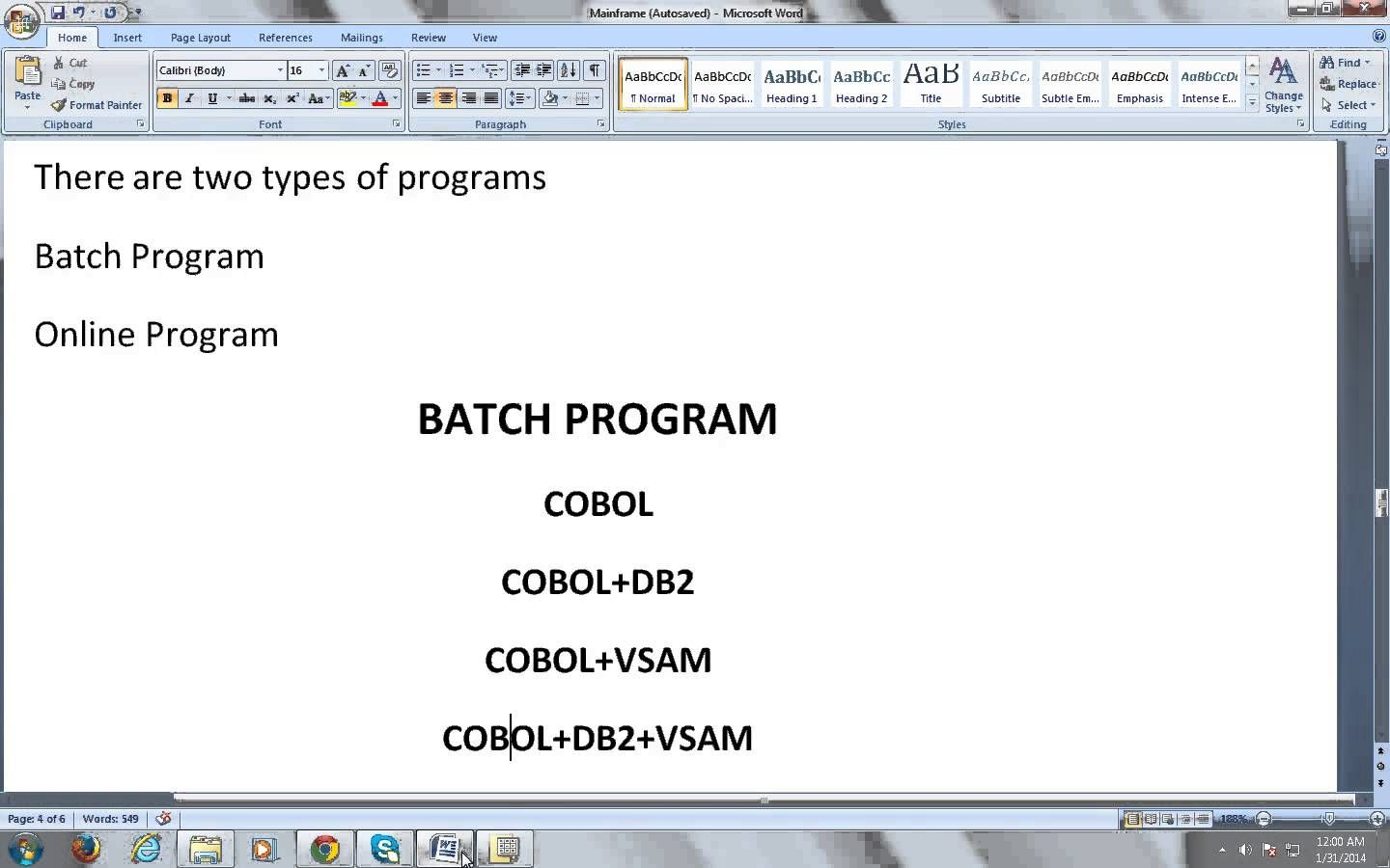Mainframe Tutorial To Learn Basics And Introduction To Cobol