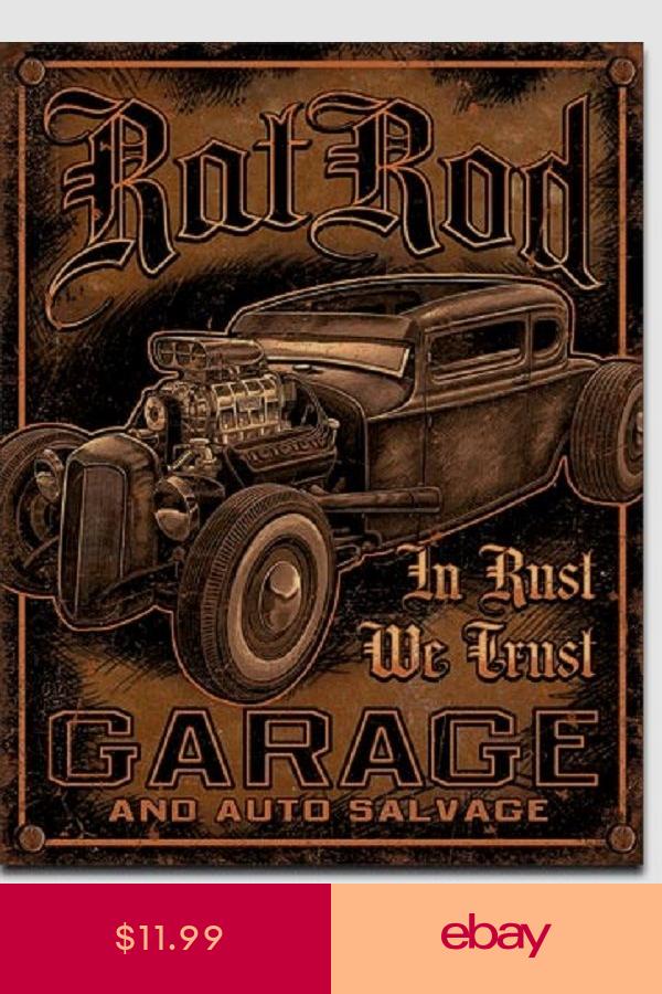 Plaque émaillée XXL Conception Du Garage réparation auto