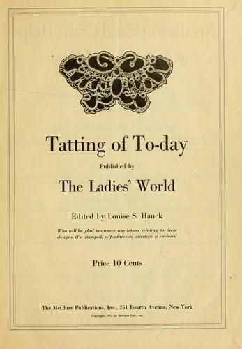 Tatting of today free pdf ebook download tatted tat check for it tatting of today free pdf ebook download tatted tat check for it at openlibrary fandeluxe Choice Image