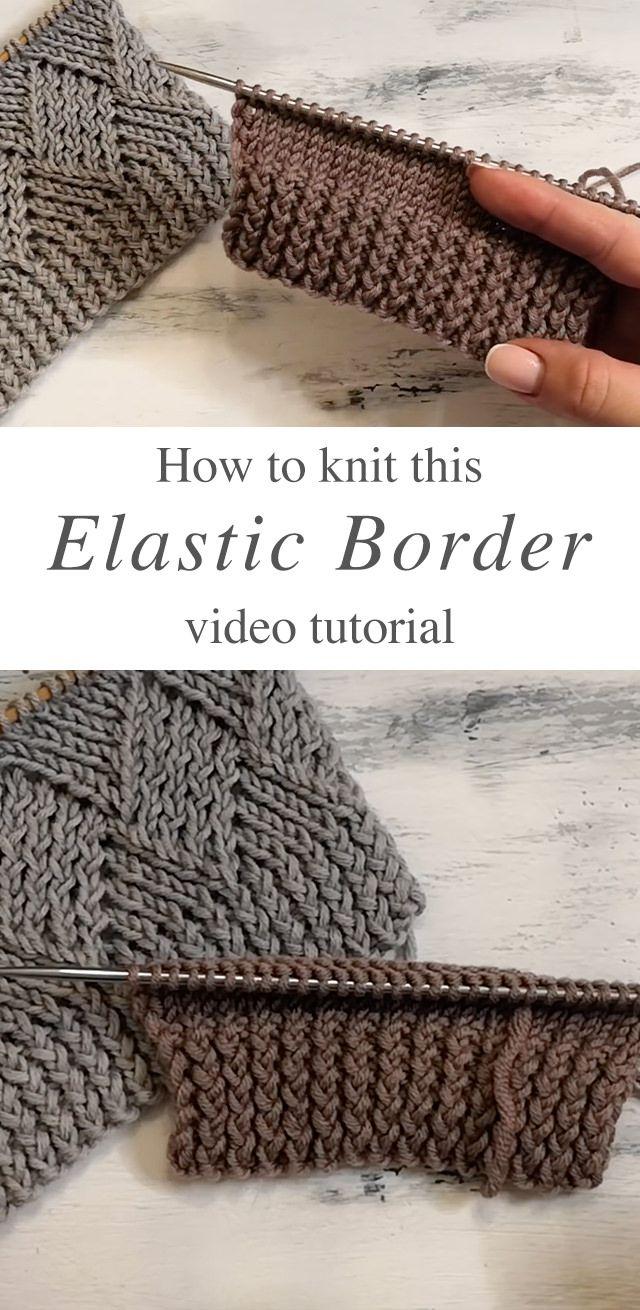 Photo of Knit Elastic Border You Will Love | CrochetBeja