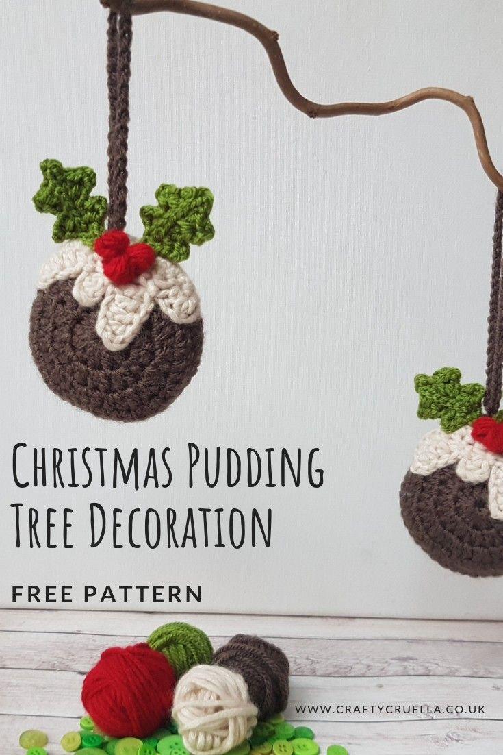 Christmas Pudding Tree Decoration | NAVIDAD | Pinterest | Ganchillo ...