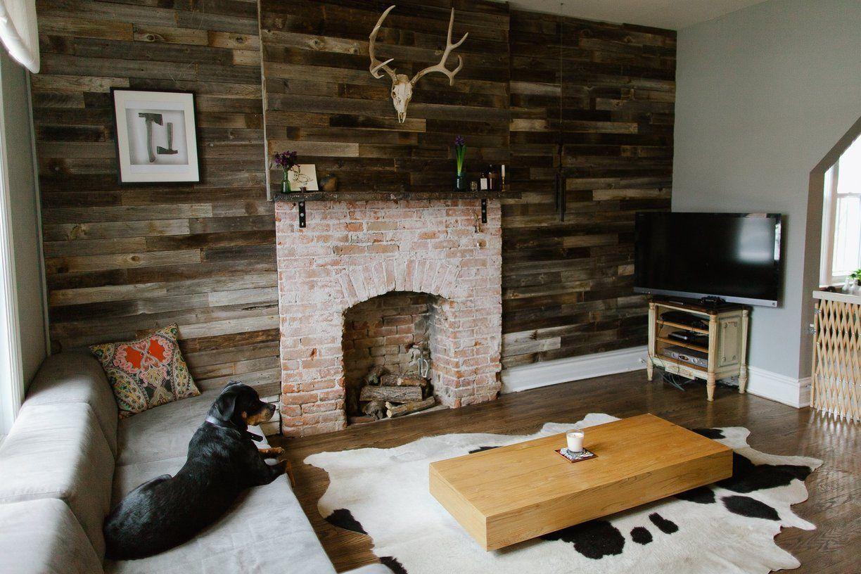 A Make It Your Own Denver Homestead Cowhide Rug Living Room