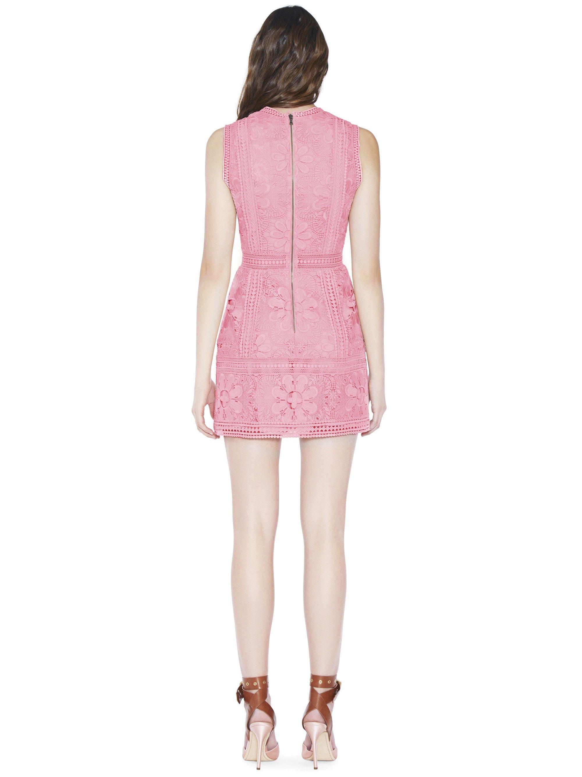 4981421a4814 Alice + Olivia Zula Lace Combo V-Neck Party Dress - 12 | Products ...