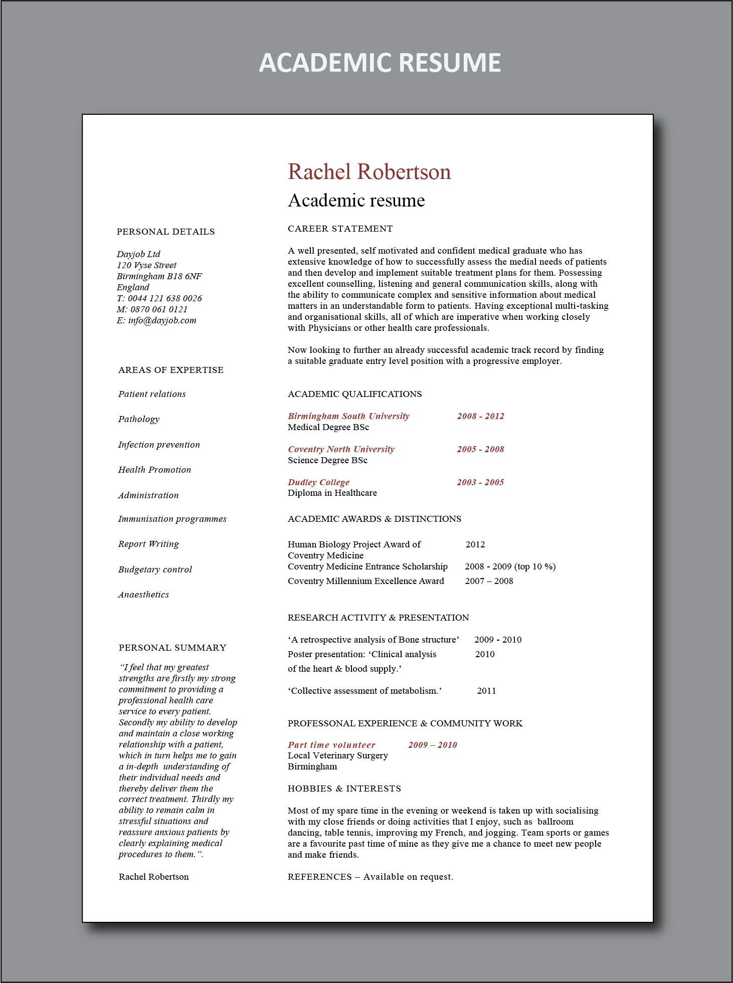 Resume Examples By Industry And Job Title With Images Resume