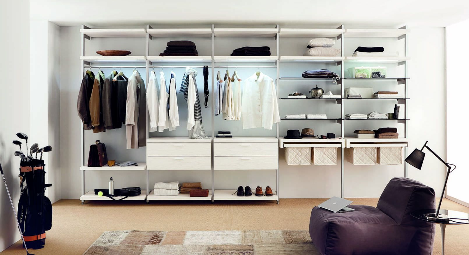 Begehbarer Kleiderschrank Modern Holz Kloset K02 Md House