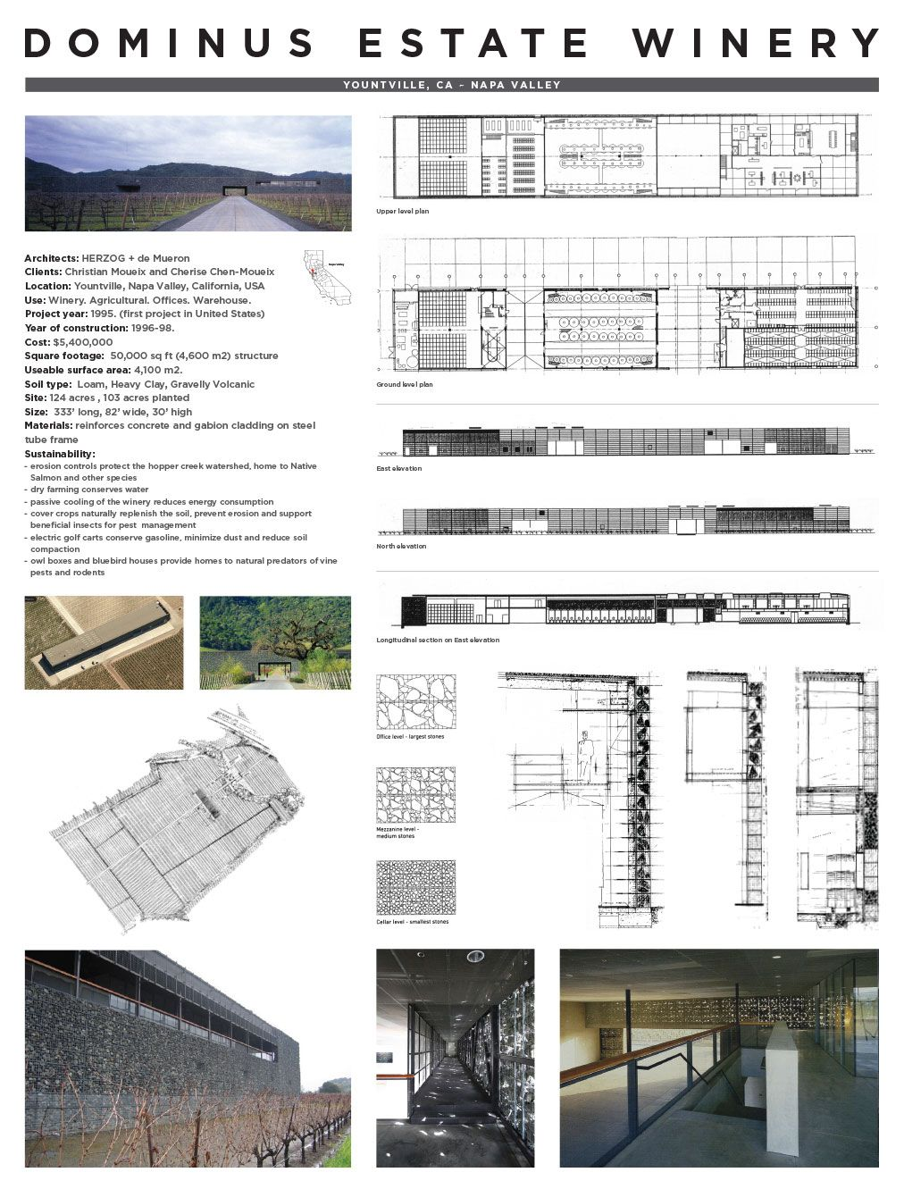 Dominus winery documentation board web architecture for Winery floor plans by architects