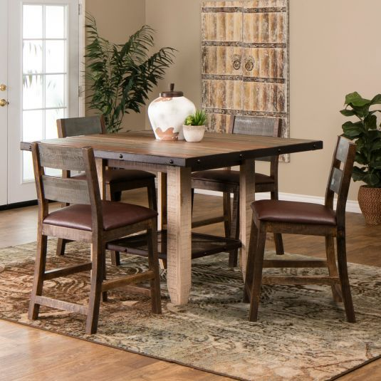 Rustic Counter Height Dining Table Set Jerome S Furniture Home