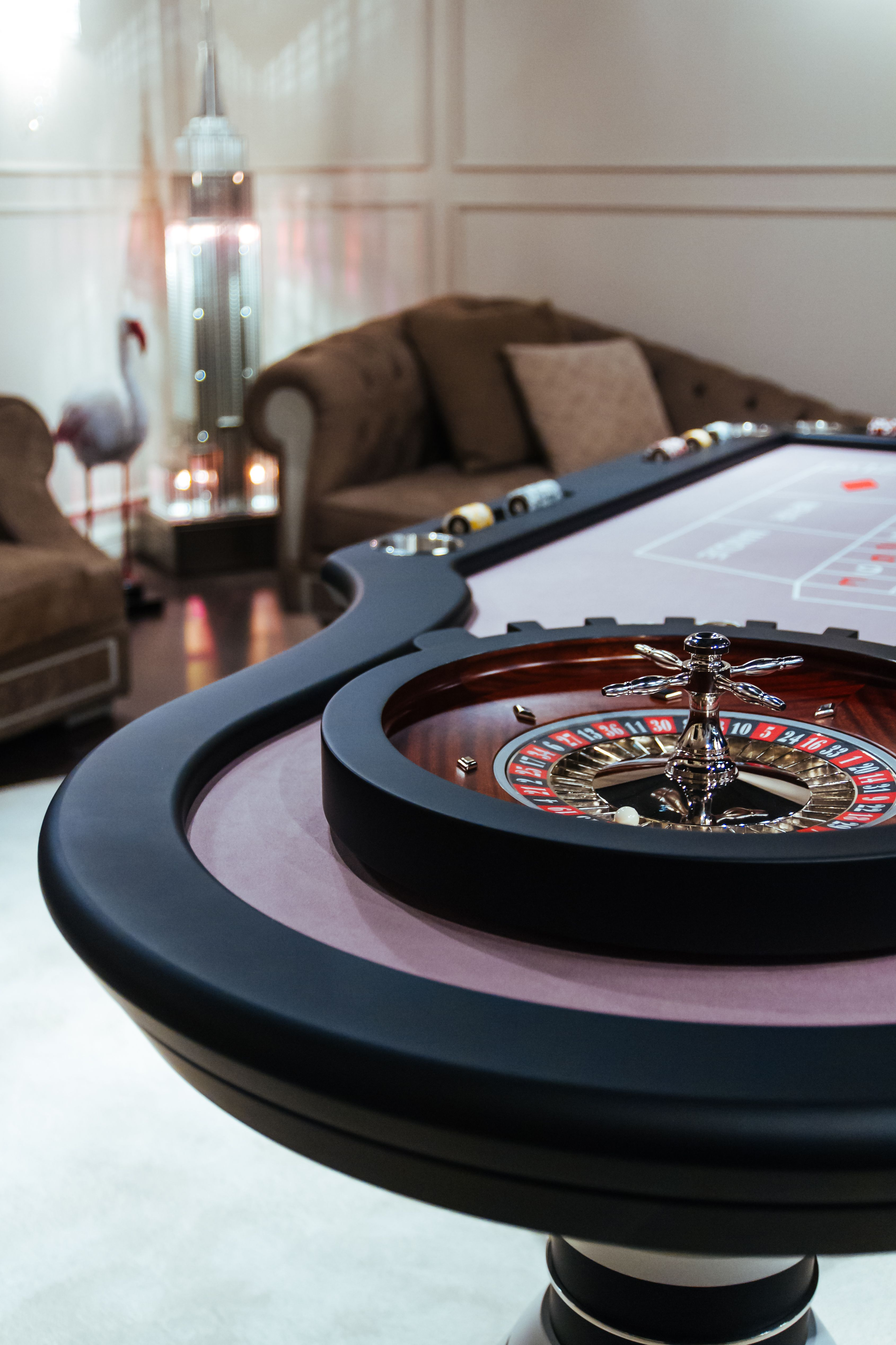 Home Roulette Table Casino Room Poker Table